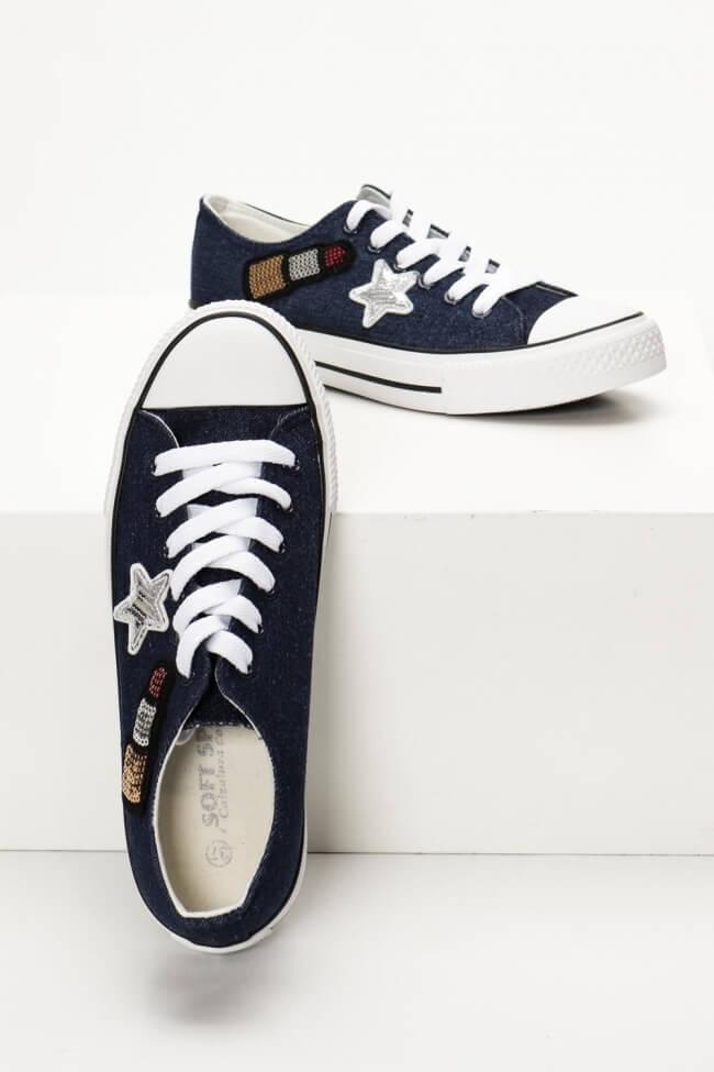 Sneakers Πάνινα με Παγιέτες