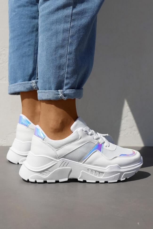 Sneakers σε Συνδυασμό Χρωμάτων με Δίχτυ