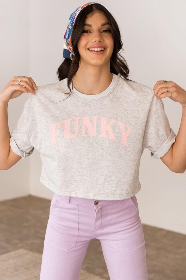 T-Shirt Crop Funky