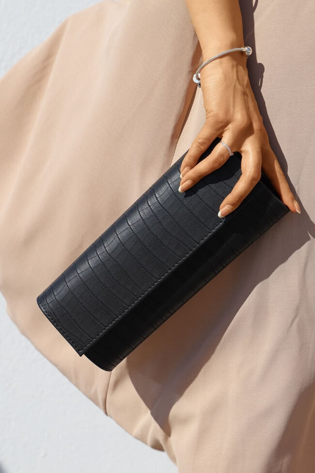 Τσάντα Φάκελος με Croco