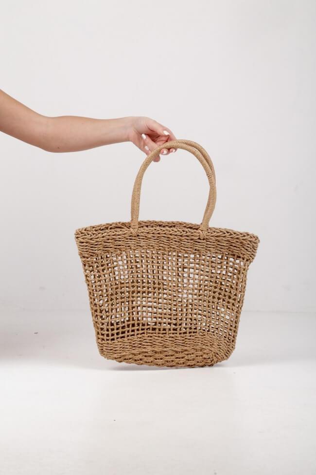 Τσάντα με Διάτρητο Σχέδιο
