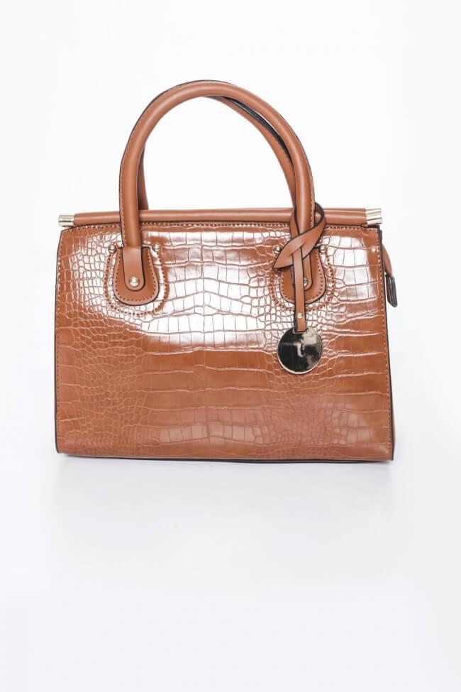 Τσάντα Ώμου Croco