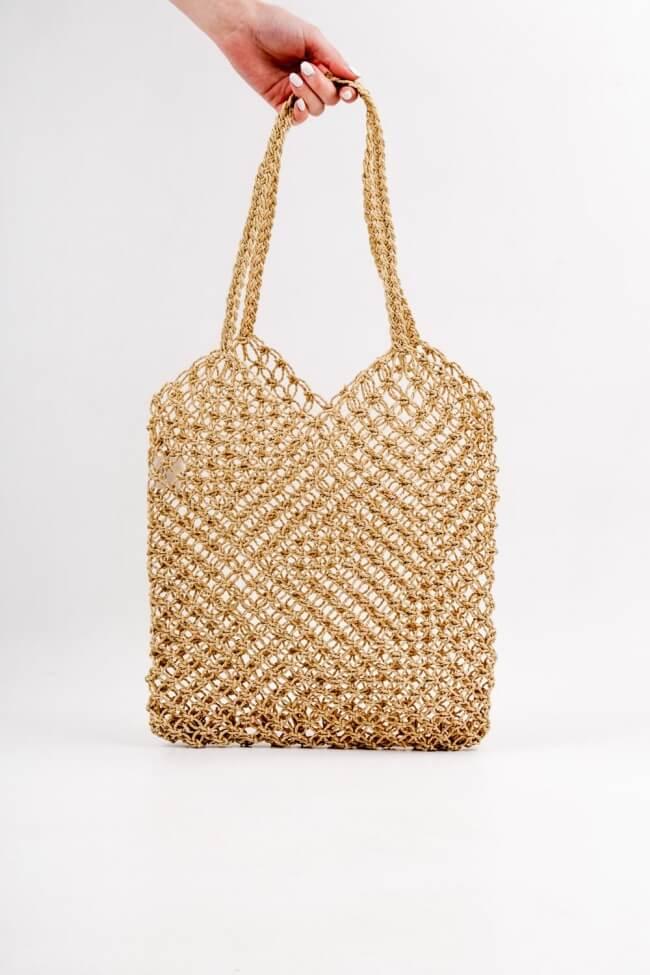 Τσάντα Ώμου με Διάτρητο Σχέδιο