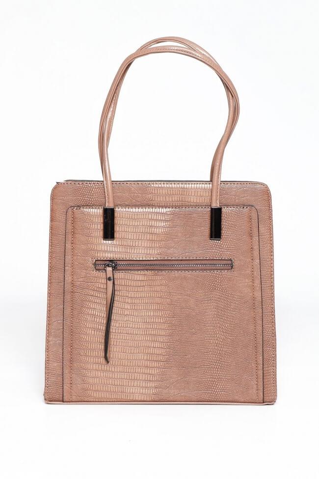 Τσάντα Ώμου με Φερμουάρ