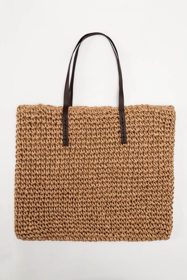 Τσάντα \'Ωμου Ψάθινη